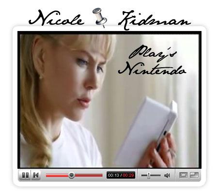 Nicole Kidman for Nintendo