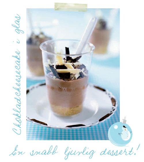 Chokladcheesecake i glas