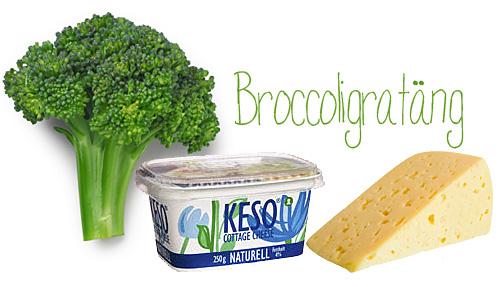 Broccoligratäng med keso