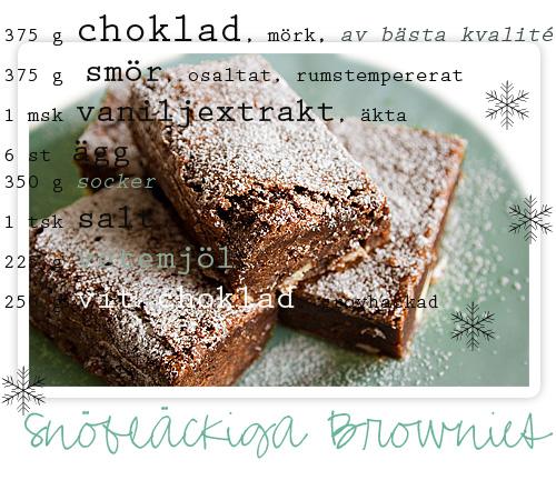 Snöfläckiga Brownies