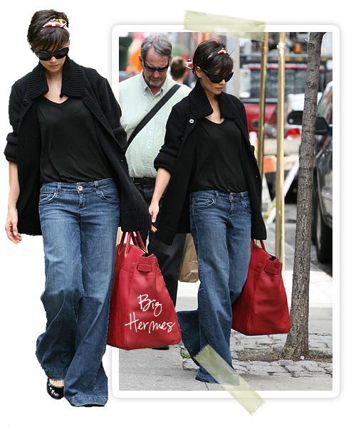 Katie in wide Jeans