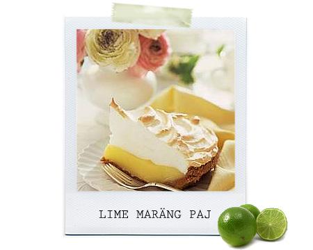 Lime - och kokospaj med maräng